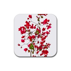 Red Petals Drink Coasters 4 Pack (square)