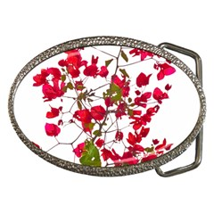 Red Petals Belt Buckle (oval) by dflcprints