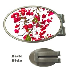 Red Petals Money Clip (oval) by dflcprints