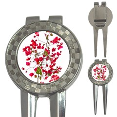 Red Petals Golf Pitchfork & Ball Marker