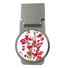 Red Petals Money Clip (round) by dflcprints