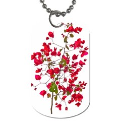 Red Petals Dog Tag (two Sided)