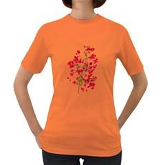 Red Petals Women s T Shirt (colored)