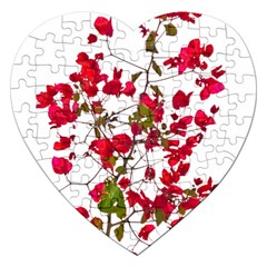 Red Petals Jigsaw Puzzle (heart) by dflcprints