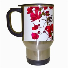 Red Petals Travel Mug (white) by dflcprints