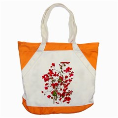 Red Petals Accent Tote Bag