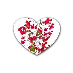 Red Petals Drink Coasters (heart)