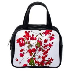 Red Petals Classic Handbag (one Side) by dflcprints