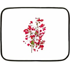 Red Petals Mini Fleece Blanket (two Sided) by dflcprints