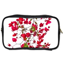 Red Petals Travel Toiletry Bag (two Sides) by dflcprints