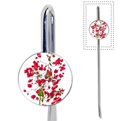 Red Petals Bookmark by dflcprints
