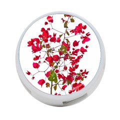 Red Petals 4 Port Usb Hub (one Side)