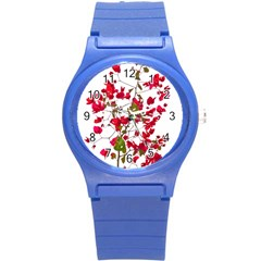 Red Petals Plastic Sport Watch (small) by dflcprints