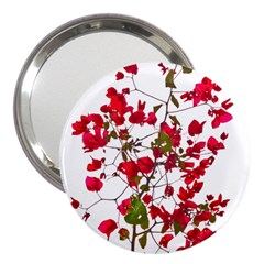 Red Petals 3  Handbag Mirror by dflcprints