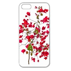 Red Petals Apple Seamless Iphone 5 Case (clear) by dflcprints