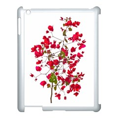 Red Petals Apple Ipad 3/4 Case (white) by dflcprints