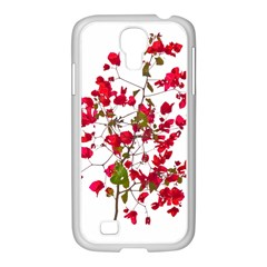 Red Petals Samsung Galaxy S4 I9500/ I9505 Case (white) by dflcprints