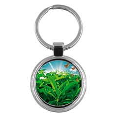 Nature Day Key Chain (round) by dflcprints