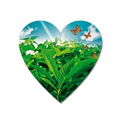 Nature Day Magnet (heart) by dflcprints