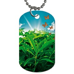Nature Day Dog Tag (two Sided)  by dflcprints