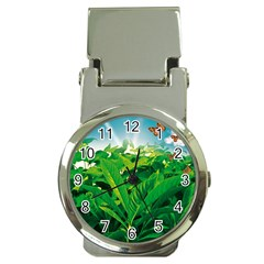 Nature Day Money Clip With Watch