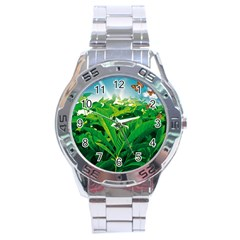 Nature Day Stainless Steel Watch by dflcprints