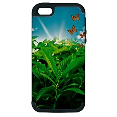 Nature Day Apple Iphone 5 Hardshell Case (pc+silicone) by dflcprints