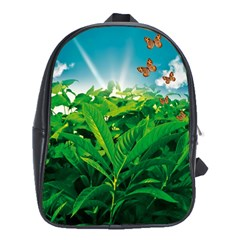 Nature Day School Bag (xl) by dflcprints