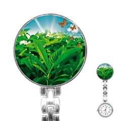 Nature Day Stainless Steel Nurses Watch by dflcprints