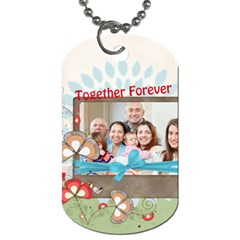 Family By Family   Dog Tag (two Sides)   Zxvlmrkbemvw   Www Artscow Com Front