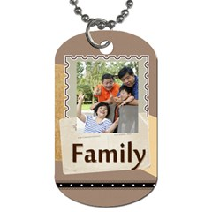 Family By Family   Dog Tag (two Sides)   Xnpqnvhqwp0s   Www Artscow Com Front