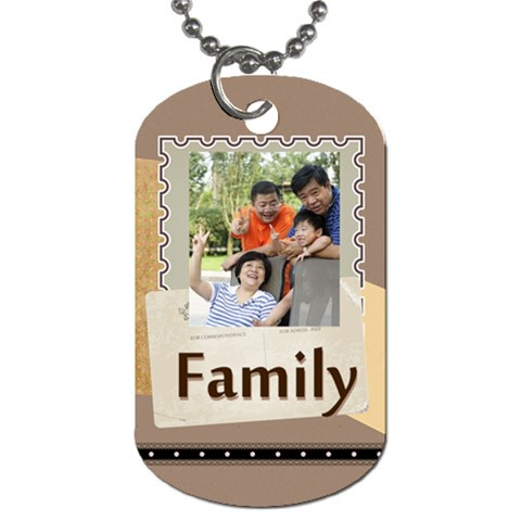 Family By Family   Dog Tag (one Side)   4v5qqp4qt6mj   Www Artscow Com Front