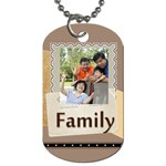 family - Dog Tag (One Side)