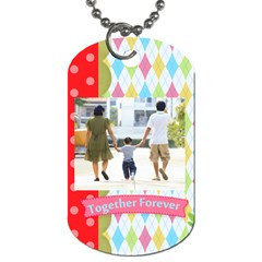 Family By Family   Dog Tag (two Sides)   U7kvs3lbcmj0   Www Artscow Com Front