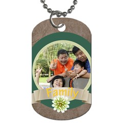 Family By Family   Dog Tag (two Sides)   V4lwws3iqdbt   Www Artscow Com Front