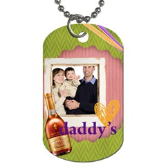 Fathers Day By Dad   Dog Tag (two Sides)   N0lh3ua9lr3k   Www Artscow Com Back