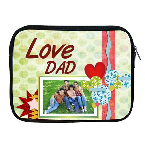 Fathers Day By Dad   Apple Ipad Zipper Case   Pny0af1giph0   Www Artscow Com Front