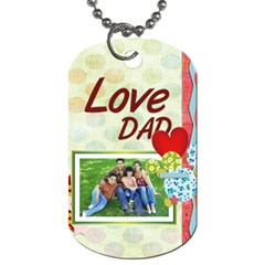 Fathers Day By Dad   Dog Tag (two Sides)   Zslahoeuh3lj   Www Artscow Com Back