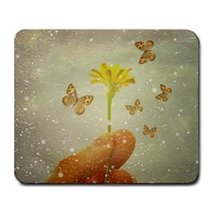 Butterflies Charmer Large Mouse Pad (rectangle) by dflcprints