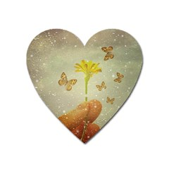Butterflies Charmer Magnet (heart) by dflcprints