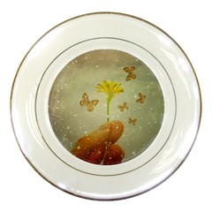 Butterflies Charmer Porcelain Display Plate by dflcprints