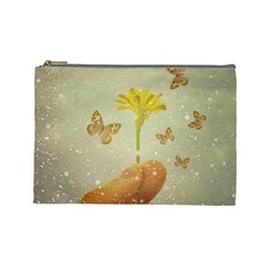 Butterflies Charmer Cosmetic Bag (large) by dflcprints