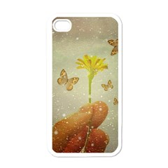 Butterflies Charmer Apple Iphone 4 Case (white) by dflcprints