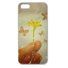 Butterflies Charmer Apple Seamless Iphone 5 Case (clear) by dflcprints