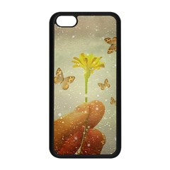 Butterflies Charmer Apple Iphone 5c Seamless Case (black) by dflcprints