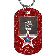 Celebrate America 2 Side Dog Tag 1 By Lisa Minor   Dog Tag (two Sides)   J8zgsgj7n4hb   Www Artscow Com Front