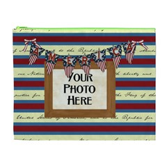 Celebrate America Xl Cosmetic Bag By Lisa Minor Front