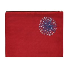Celebrate America Xl Cosmetic Bag By Lisa Minor Back