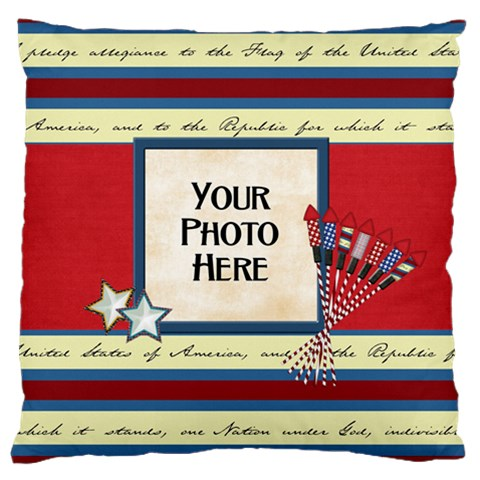 Celebrate America Lg 1 Side Cushion Case 2 By Lisa Minor   Large Cushion Case (one Side)   Kzrh3m02vacu   Www Artscow Com Front