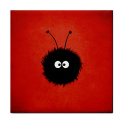 Red Cute Dazzled Bug Ceramic Tile by CreaturesStore